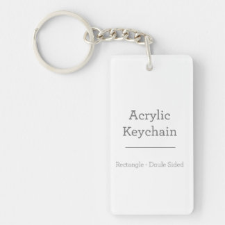 Personifierade rektangulära Keychain