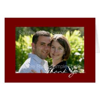 Personifierade röda kort för fotobrölloptack