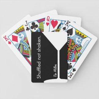 Personifierade roliga Martini leka kort Spelkort
