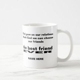 Personifierade vitmuggen för bästa vän någonsin kaffemugg