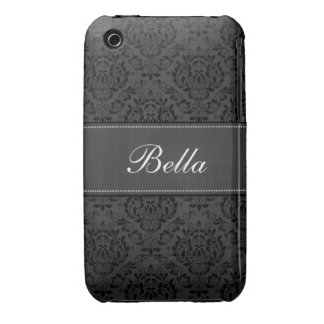 Personifierat damastast designblackberry iPhone 3 fodral
