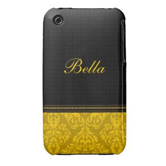 Personifierat damastast designblackberry iPhone 3 fodraler