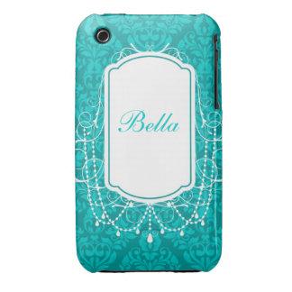 Personifierat damastast designblackberry iPhone 3 Case-Mate fodral