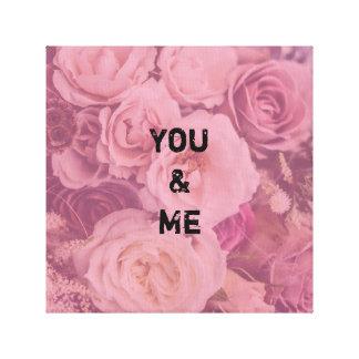 """Personifierat """"dig & mig"""" romantiska ro canvastryck"""