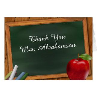 Personifierat för läraretack hälsningskort