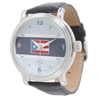 Personifierat: Puerto Rico flagga Armbandsur