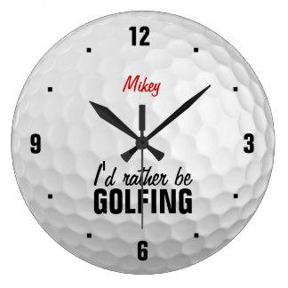Personifierat skulle jag är ganska golfspelet stor klocka