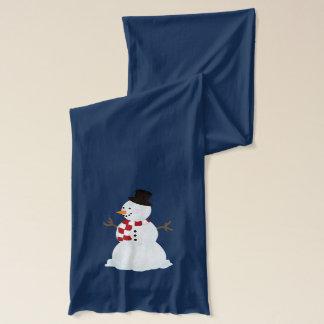Personifierat: Snögubbe och snöflingorScarf Sjal