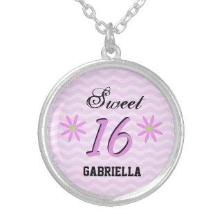 Personifierat: Sött halsband 16 för rosa daisy