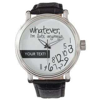Personifierat spelar ingen roll, I-förmiddag sent Armbandsur