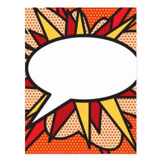 Personifierat tal för humorbokpopkonst bubblar vykort