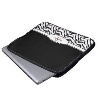 Personifierat: Välskött laptop sleeve för sebra Laptop Datorfodral