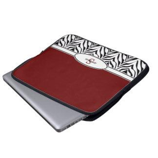 Personifierat: Välskött laptop sleeve för sebra Laptopfodral