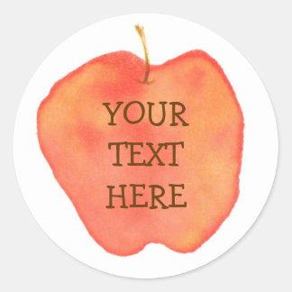 Personlig Apple Runt Klistermärke