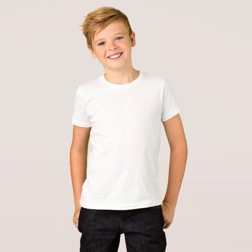 Barn American Apparel Fin Jersey T-Shirt, Vit