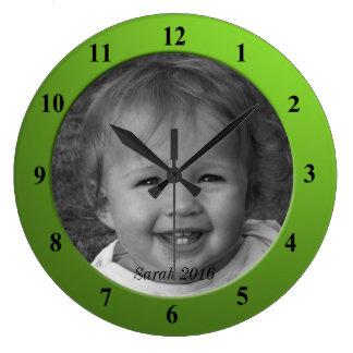 Personlig beställnings- ram för foto- och stor klocka