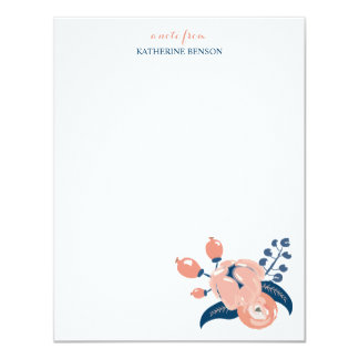 Personlig brevpapper för modblom 10,8 x 14 cm inbjudningskort