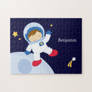Personlig för astronautpojkebarn pussel