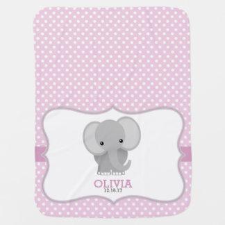 Personlig för babyelefant (rosa)