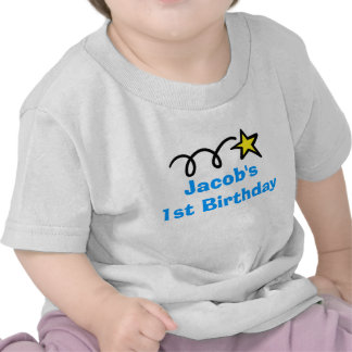 Personlig för Babys 1st födelsedagskjorta | med na