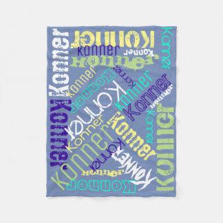 Personlig för Collage för blåttfiltnamn Fleecefilt