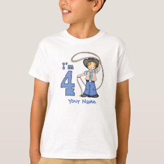 Personlig för CowboyRoper 4e födelsedagen T Shirts