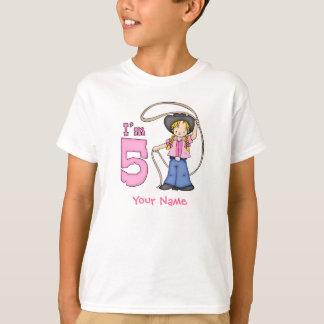 Personlig för CowgirlRoper 5th födelsedag T Shirts