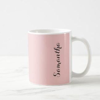 Personlig för färg för rosa kvartrodnad rosa fast kaffemugg