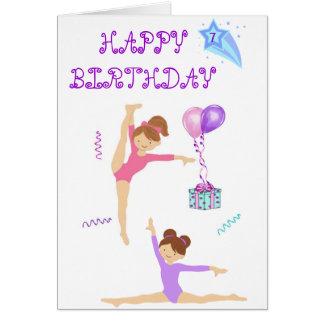 Personlig för gymnastikfödelsedagkort hälsningskort