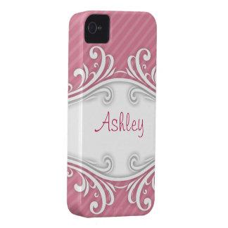 Personlig för iphone case för Ashley rosor randig iPhone 4 Case-Mate Case