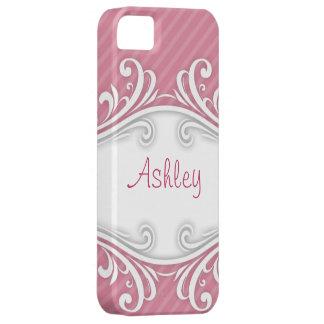 Personlig för iphone case för Ashley rosor randig iPhone 5 Fodraler