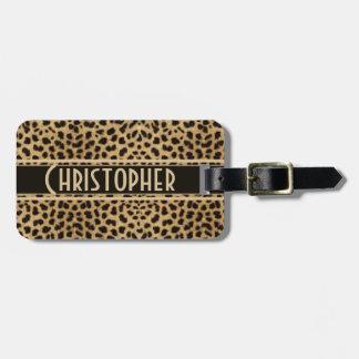 Personlig för Leopardfläckadress Reselappar För Väskor