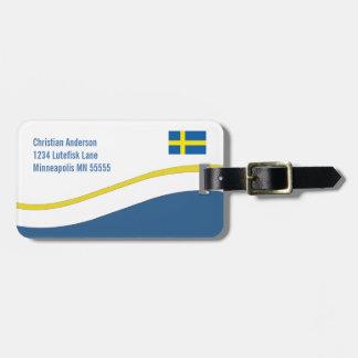 Personlig för svenskflaggaanpassningsbar bagage lapp