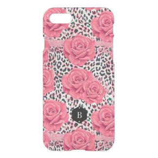 Personlig för tryck för rosa rosvildLeopard iPhone 7 Skal