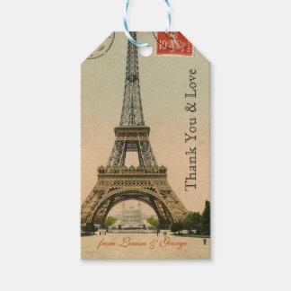 Personlig för vintageParis Eiffel torn Presentetikett