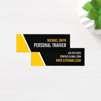Personlig instruktör för djärv svart och för litet visitkort