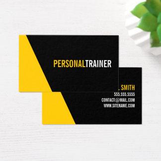 Personlig instruktör för djärv svart och för visitkort