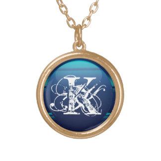 Personlig Monogram Guldpläterat Halsband