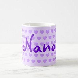 Personlig Nana i lilor Kaffemugg
