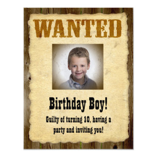 Personlig önskad affisch, födelsedagbandit inbjudningskort