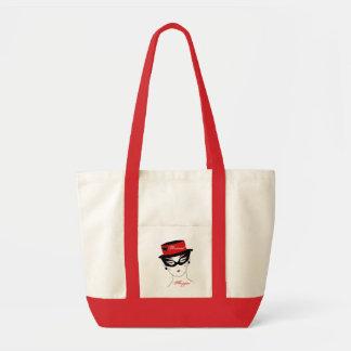 Personlig shoppare för mode i rött och vit III Impulse Tygkasse