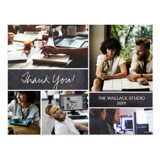 Personlig tack, företags fotocollage vykort
