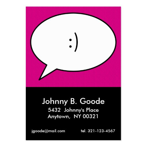 personlig telefonkort för rosa retro POPKONST Visit Kort