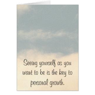 Personlig tillväxt hälsningskort
