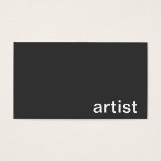 Personlig visitkort (konstnären)