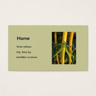 Personlig visitkortmall för elegant bambu visitkort