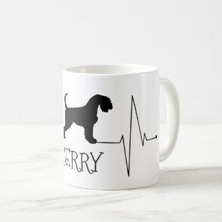 PersonligAiredalekärlek min hundhjärtatakt Kaffemugg