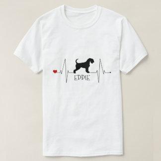 PersonligAiredalekärlek min hundhjärtatakt T Shirt