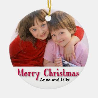 Personligbarns prydnad julgransprydnad keramik