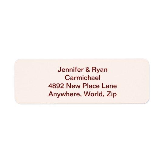 Personligbrud- & brudgumreturetiketter returadress etikett